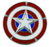 jewel captain america's shield belt buckle