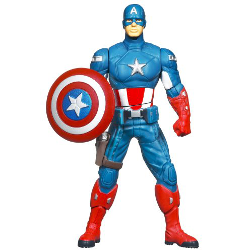 Marvel The Avengers Mighty Battlers Shield Spinning Captain America Figure