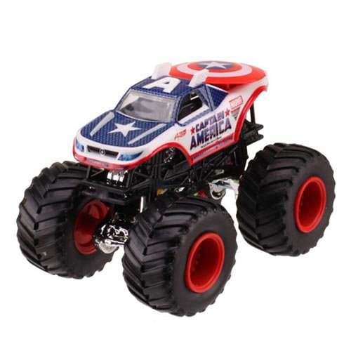Hot Wheels Monster Jam 2013 Captain America 1:64 Scale Die Cast Vehicle